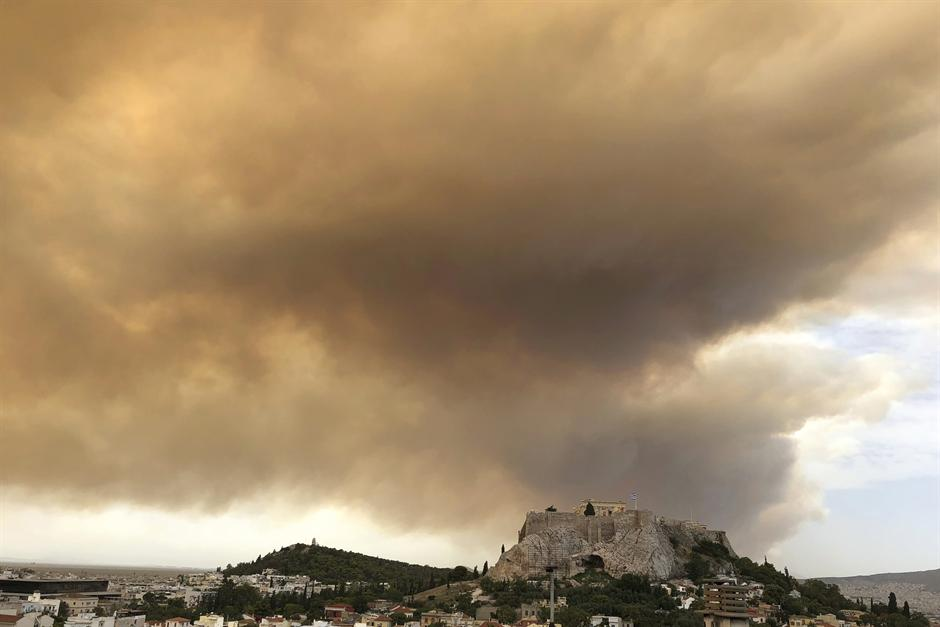 požar požari grčka atina