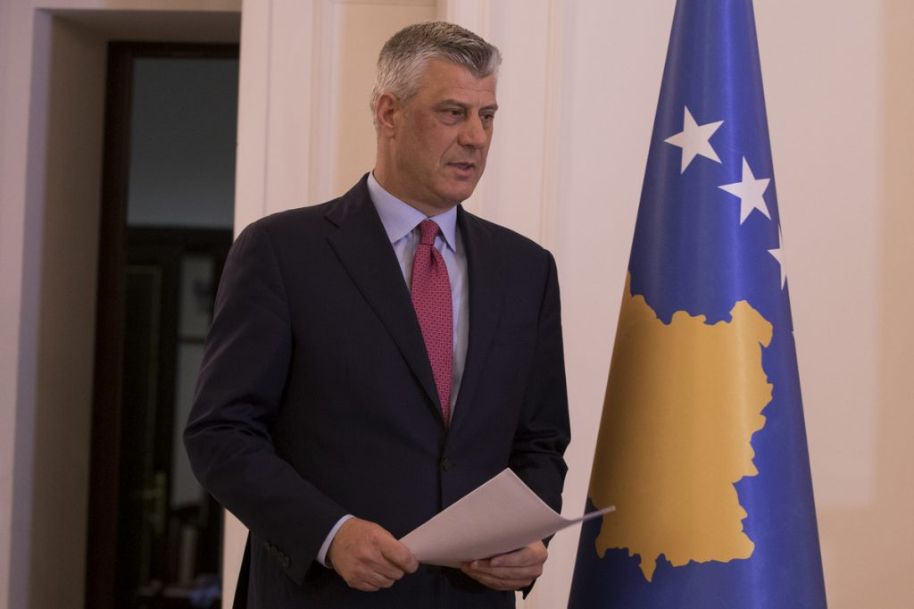 Kosovski predsednik Tači u sredu u Skoplju