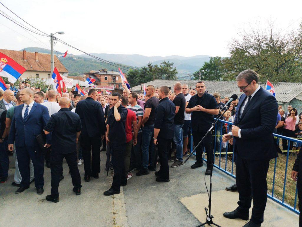 VUČIĆEV GAZIMESTAN Predsednik Srbije u Leposaviću: Hoću da Kosovska Mitrovica bude jedan od najlepših srpskih gradova