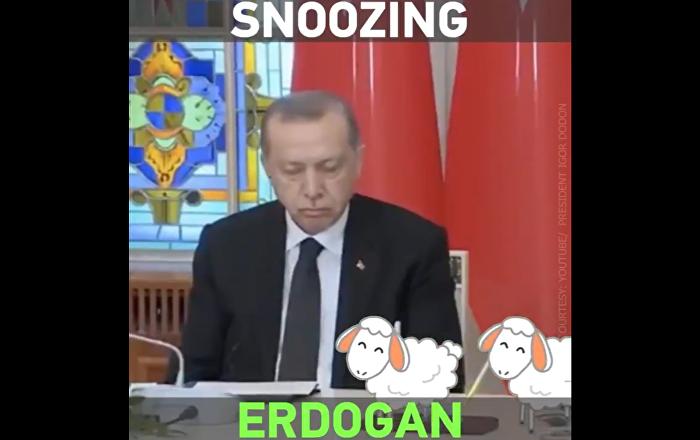 Erdogan zadremao na konferenciji za štampu (video)