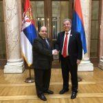 Poslanik Karić zajedno sa članovima Poslaničke grupe prijateljstva razgovarao sa ambasadorom Tunisa u Srbiji