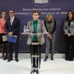 Brnabićeva ambasadorima EU: Zabrinuta sam zbog situacije na KiM
