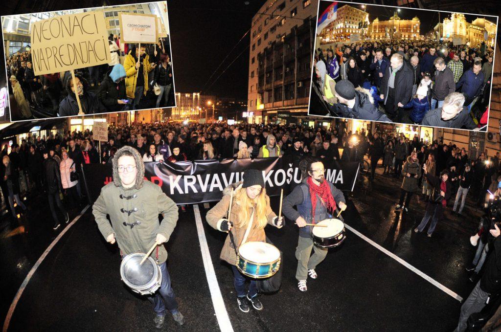 "PROTEST U BEOGRADU Kolona prošetala centrom grada, demonstranti poručili ""KRENULO JE, SRBIJO"" (FOTO, VIDEO)"