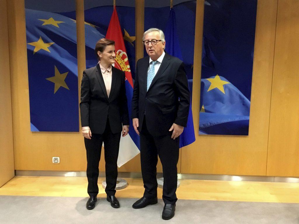 ZAVRŠENA POSETA BRISELU Brnabićeva se na kraju sastala sa Junkerom