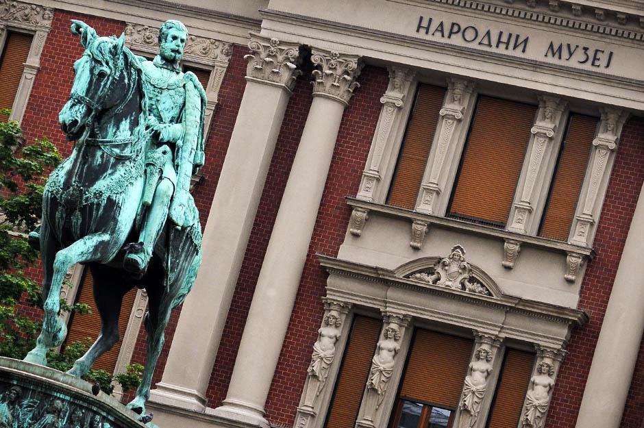 narodni muzej, muzej, muzeji, beograd, konj, trg republike, spomenik, kney mihailo