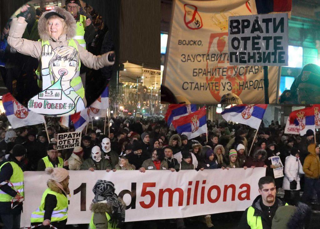 """ŠETNJA """"JEDAN OD PET MILIONA"""" """"Greje nas želja za boljom Srbijom, vidimo se sledeće subote"""". A pogledajte kako je večeras bilo i na protestu u Nišu"""