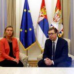 Vučić i Mogerini razgovarali o prevazilaženju zastoja u dijalogu