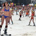 Soči: Hiljadu ljudi u kupaćim kostimima na skijama