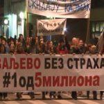 """Protesti """"1 od 5 miliona"""" širom Srbije"""