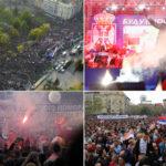 MITING SNS U BEOGRADU Vučić: Uložili smo mnogo energije, vredelo je za jedno ovakvo veče (FOTO/VIDEO)