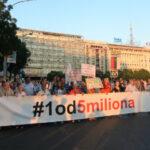"""Tridesetčetvrti protest """"Jedan od pet miliona"""" u Beogradu"""
