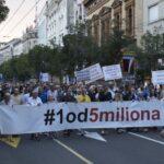 """Protest """"1 od 5 miliona"""": Minut ćutanja za žrtve """"Oluje"""""""