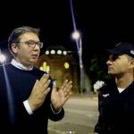 Vučić sa noćnom patrolom saobraćajne policije