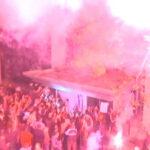 "Protest ""Jedan od pet miliona"" u Beogradu, ofarban ulaz RTS-a"