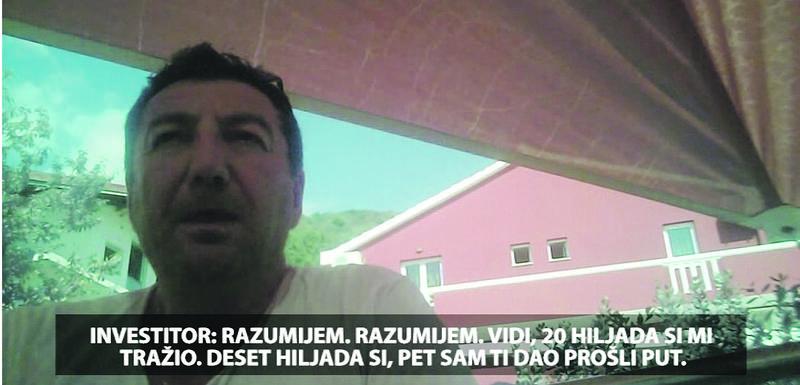 Detalj snimka objavljenog u emisiji Načisto