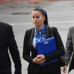 Bojana Lakićević Đuranović sa advokatom Velimirovićem dolazi na suđenje