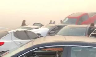 Prevrnuti i smrskani automobili po putu: Veliki lančani sudar 63 vozila, povređeno 35 osoba (VIDEO)