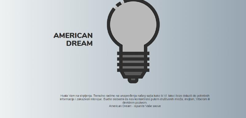 Sajt agencije American Dream