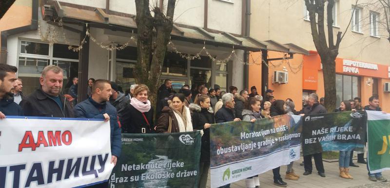 Sa protesta u Bijelom Polju