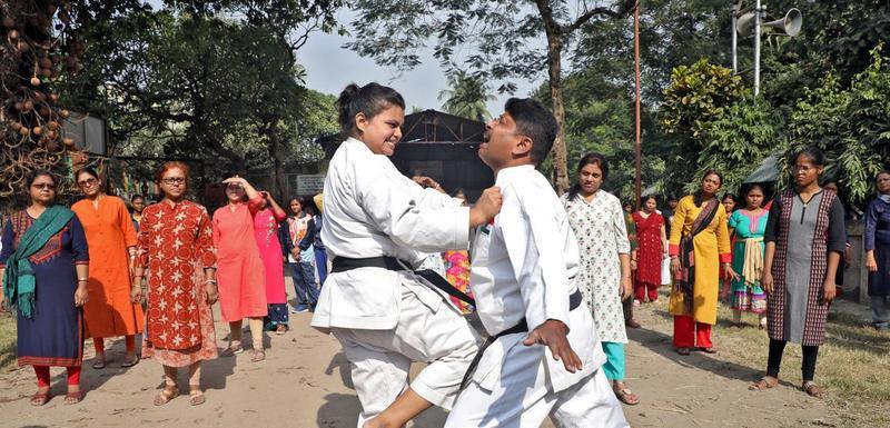 Polaznice karate kursa u Kalkuti