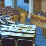 Detalj iz Skupštine nakon glasanja o Predlogu zakona o radu
