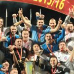 Fudbaleri Rudara nakon osvajanja Kupa 2016.