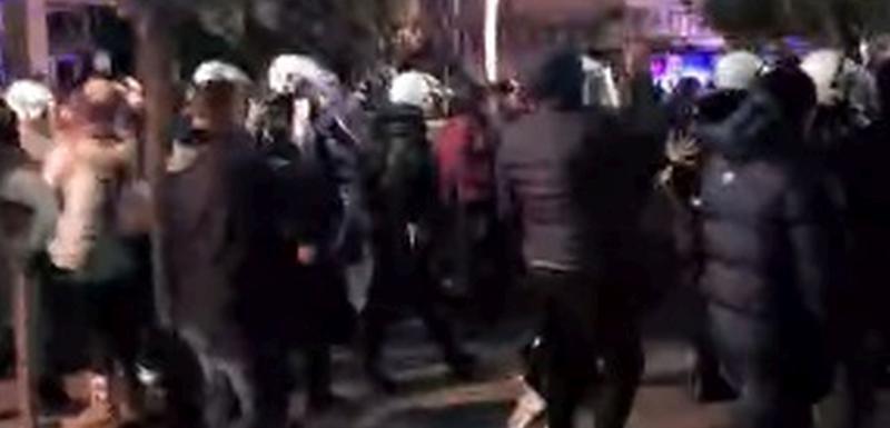 Policijska blokada kod VDT: Protest u PG