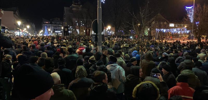 Pljevljaci u velikom broju izašli na ulice