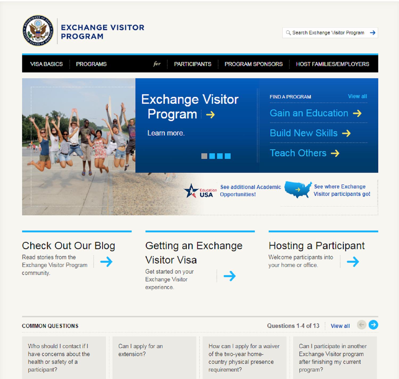 Zvanična stranica programa razmjene američke Vlade