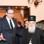 Srbijanski predsjednik Aleksandar Vučić i patrijarh SPC Irinej