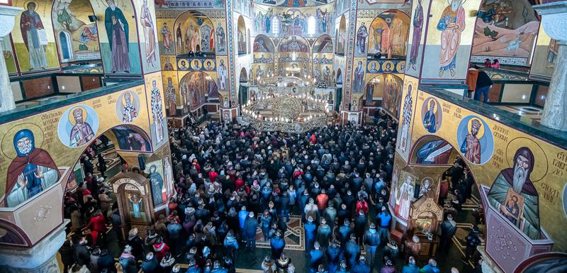 Amfilohije služio Božićnu liturgiju u Hramu u Podgorici